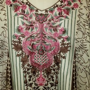 Full embroidery dress